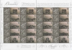 SG LS4 2001 Occasions Ingots Smilets Sheet Perfect U/M