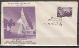 India, Scott cat. 551. Arvi Earth Satellite Station issue. First day cover. *