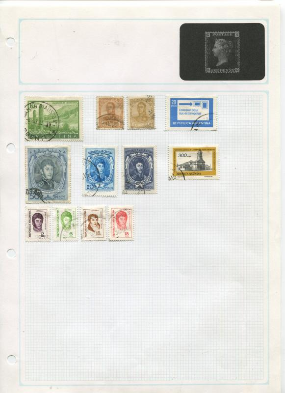 STAMP STATION PERTH Argentina # Various Selection of 106 Stamps Mint /Used