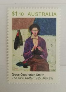 Australia 2020 The Sock Knitter by Grace Cossington Smith MNH**
