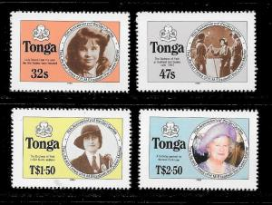 TONGA Sc#608a-611a QUEEN MOTHER Mint Never Hinged Complete Set