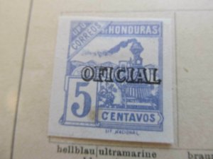 Honduras 1898-99 5c fine mng official stamp A11P12F35