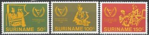 Suriname  580-2  MNH  WHO  International Year of Disabled Person