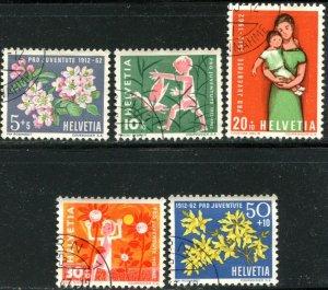 SWITZERLAND Sc#B318-B322 1962 Pro Juventute Complete Set Used