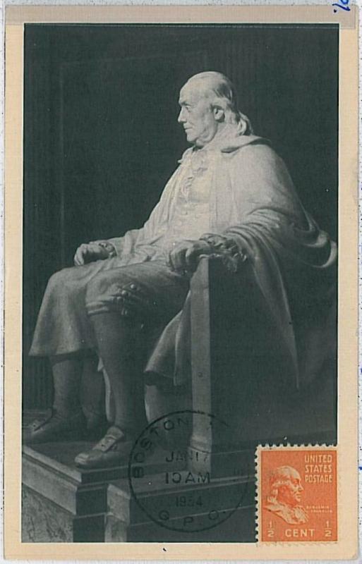 32298 MAXIMUM CARD - ART \ POLITICS : USA - 1954