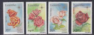 Lesotho # 1040-1043, Roses, NH, 1/2 Cat.