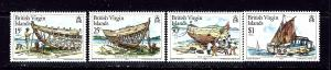 British Virgin Is 450-53 MNH 1983 Boat Building
