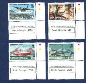 SOUTH GEORGIA - # 344-347 - MNH - Communication, Ship, airplane - 2006