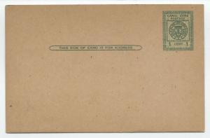1925 Canal Zone UX8 mint postal card [y4104]