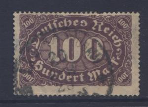 GERMANY. -Scott 156 - Definitives -1922- Used - Brown Vio Buff Single 100m Stamp