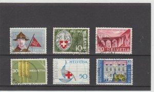Switzerland  Scott#  422-427  Used  (1963)