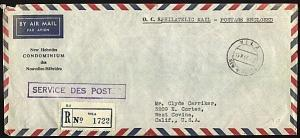 NEW HEBRIDES 1966 Official registered cover ex Port Vila.........19141