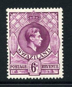 Swaziland 1938 KGVI 6d perf 13½x13 SG 34 mint