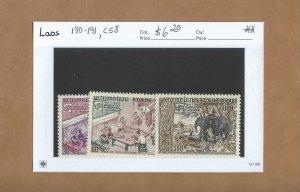 Laos 190-191  MNH