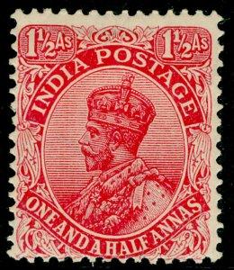 INDIA SG198, 1½a rose-carmine, M MINT.