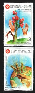 Order of Malta. 1981. 196-97. Year of the fight against hunger, hands. MNH.