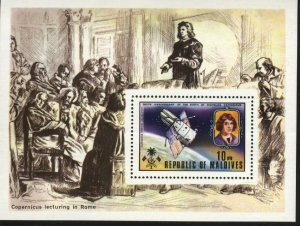 Maldives Is. MNH Sc 488 S/S Space Exploration Copernic Value $ 19.00  US $$