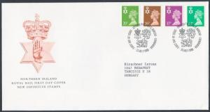 Great Britain Northern Ireland stamp Set on FDC Cover 1996 Mi 67-70 WS151517