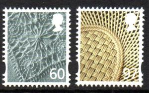 Great Britain Northern Ireland 33-4 2010  60p linen 97p china stamp set mint NH
