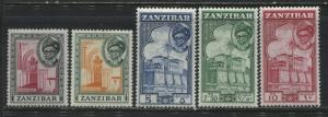 Zanzibar various 1 to 10 shillings mint o.g.