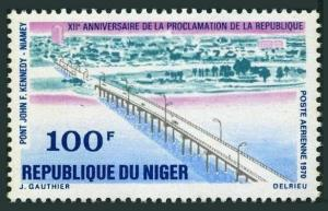 Niger C145,MNH.Michel 272. Independence 12th Ann.1970.John F.Kennedy Bridge.