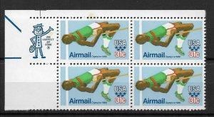 US 1979 Airmail Olympics-80,Sport,High Jump,ZIP Block Scott # C97,VF MNH**,Spot