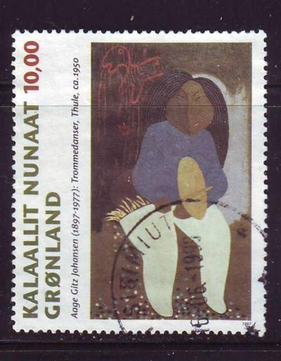 Greenland Sc 325 1997 10 kr painting stamp used