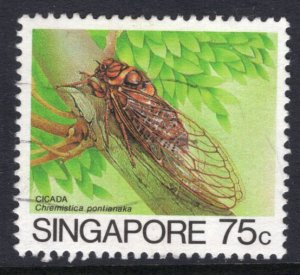 Singapore 460a Insect Used VF