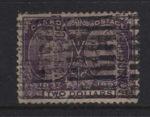 Canada #62 VF Used With Roller Cancel