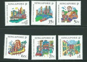 SINGAPORE SG991/6 1999 SINGAPORE-HONG KONG JOINT ISSUE  MNH