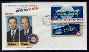 US 1570a Apollo Soyuz Fleetwood U/A FDC