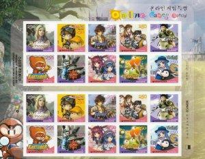 Korea Online Games 2006 Animation Cartoon (sheetlet) MNH *adhesive