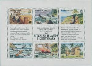 Pitcairn Islands 1990 SG356a Settlement sheetlet MNH