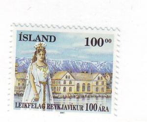 Iceland Sc 847 1997 Reykjavik Theatre stamp mint NH