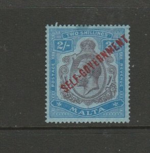 Malta 1922 Self Govt Script CA 2/- Fresh MM SG 120