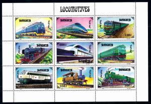 [63479] Mongolia 1997 Railway Train Eisenbahn Chemin de Fer Sheet MNH
