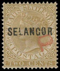 Malaya / Selangor Scott 6a Gibbons 13 Used Stamp