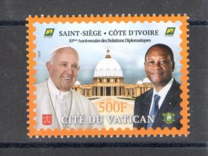 2020 Cote D'Ivoire - 50° Anniversary Relations Diplomatic Missions - Issue With