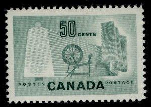 CANADA QEII SG462, 50c deep bluish green, VLH MINT.
