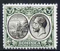 Dominica 1923-33 KG5 Badge 1/2d black & green being a...