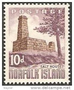 1961 Norfolk Island Scott 35 Salt House MH