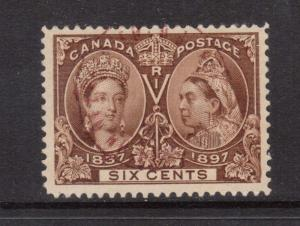 Canada #55 VF Used With Red CDS Cancel