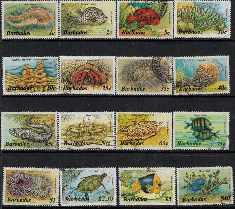 Barbados 1985 SC 640-659 Used $65.60 Set