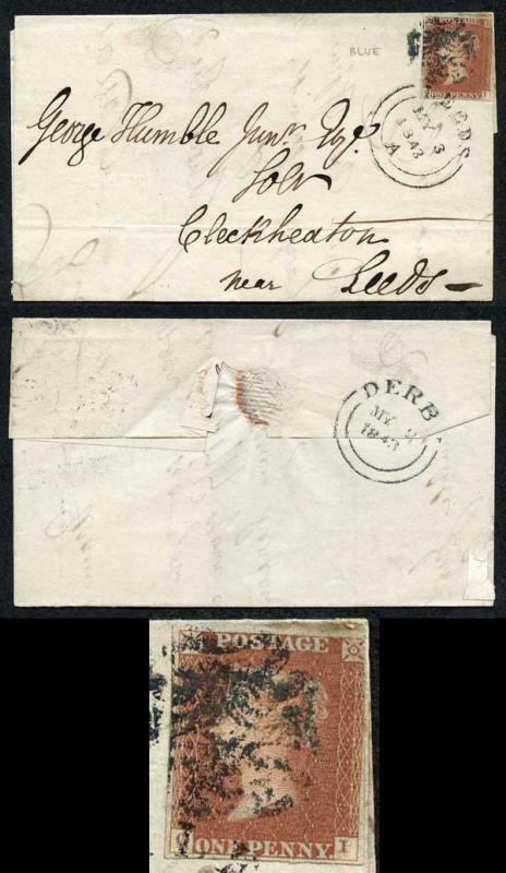 1841 Penny Red (OI) with a Derby BLUE Maltese Cross Cat 1700 pounds