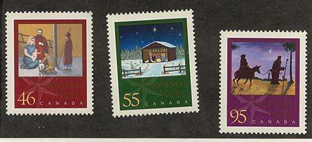 Canada #1873-1875 Mint VF-NH Year 2000 Chrstmas Nativity Set of Three Complete