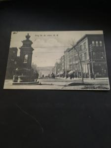 Canada #89 1c Edward Pays Postage on Early 1900's Photo Card King St.,St.John,NB