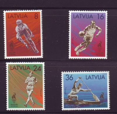 Latvia Sc 418-21 1996 Atlanta Olympics stamps mint NH