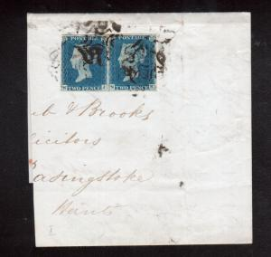 Great Britain #2 Used Pair On Large Partial Cover Piece