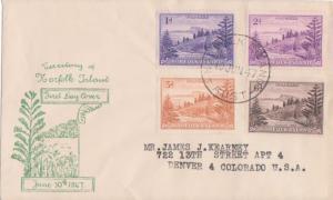 Norfolk Islands Scott 2, 4, 6 and 9 Typewritten Address.