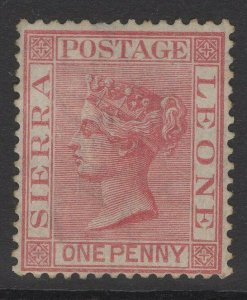 SIERRA LEONE SG17 1876 1d ROSE-RED UNUSED